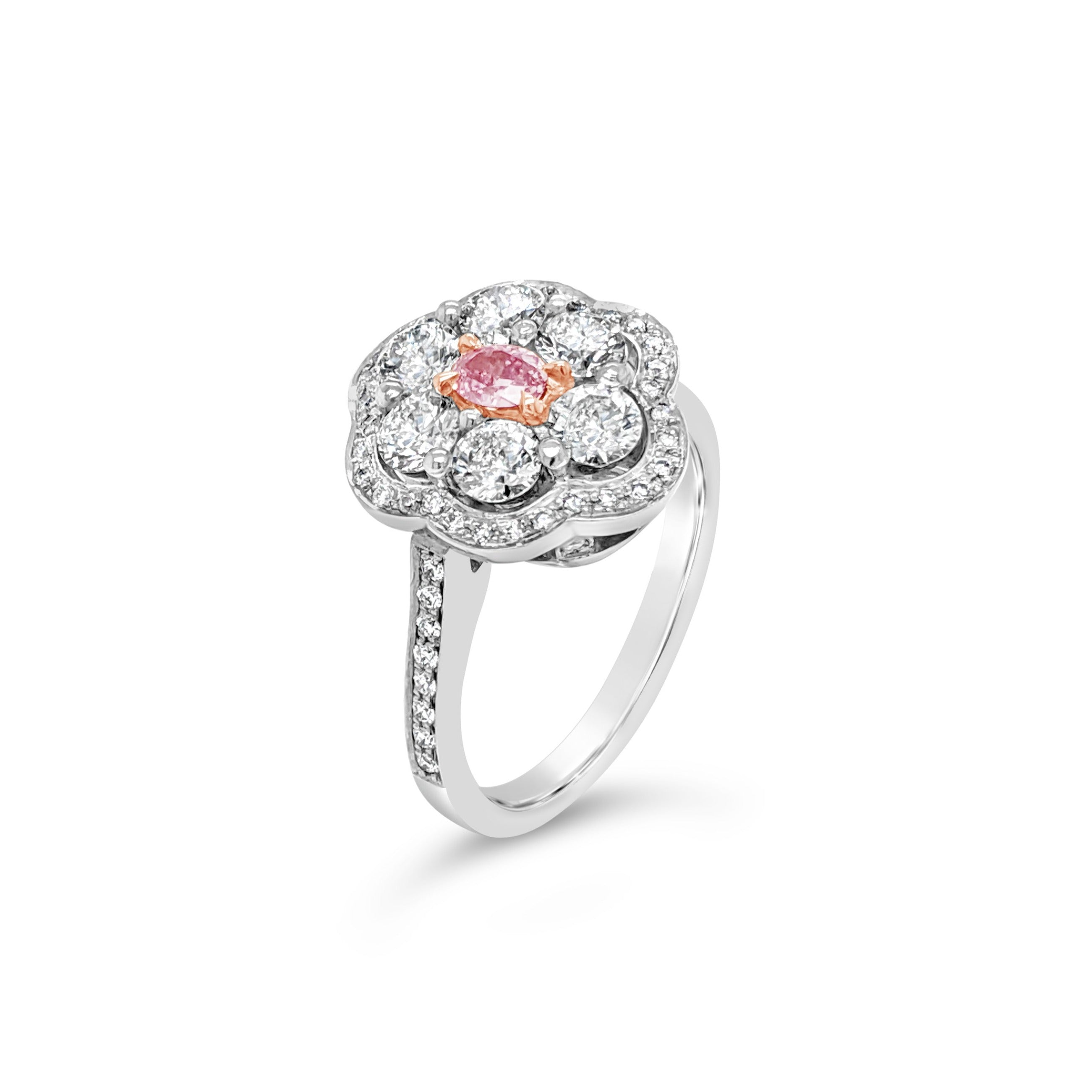 Pink Argyle Oval Diamond Ring