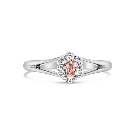 Argyle Oval Diamond Split Band Ring
