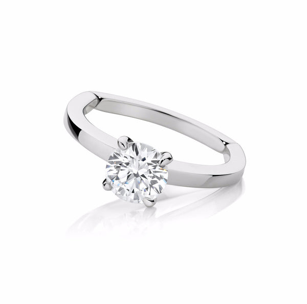 Four Claw Brilliant Engagement Ring