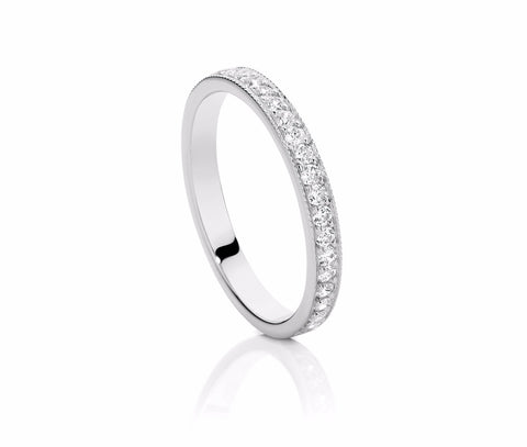 Millgrain Diamond Set Wedding Ring