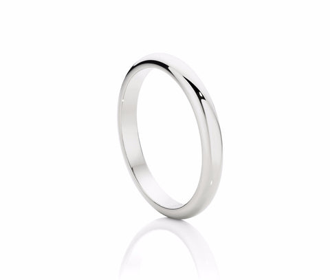 Classic 3mm Half Round Wedding Ring