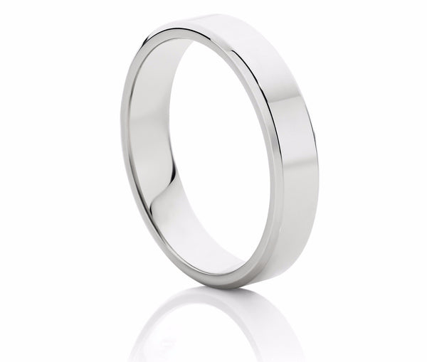 Bevelled Edge Men's Wedding Ring