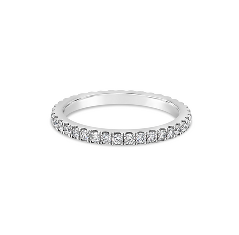 Platinum Cut Claw set Eternity Band