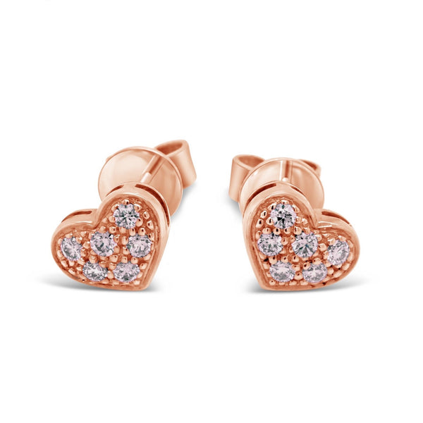 Heart Shape Argyle Pink Diamond Earrings