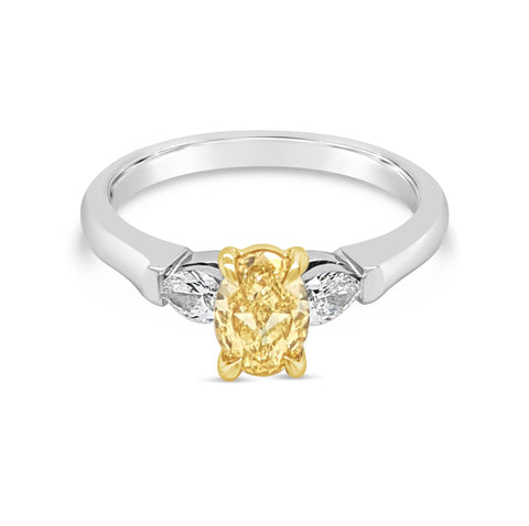 Yellow Diamond Trilogy Ring