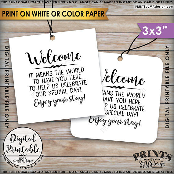 Wedding Labels For Gift Bags: PRINTSbyMAdesign