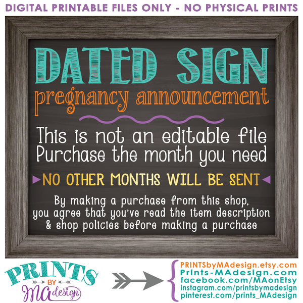 "Easter Pregnancy Announcement, So Egg-Cited there's a Baby on the Way in NOVEMBER dated PRINTABLE Chalkboard Style New Baby Reveal Sign, Print as 8x10"" or 16x20"", Instant Download Digital Printable File - PRINTSbyMAdesign"