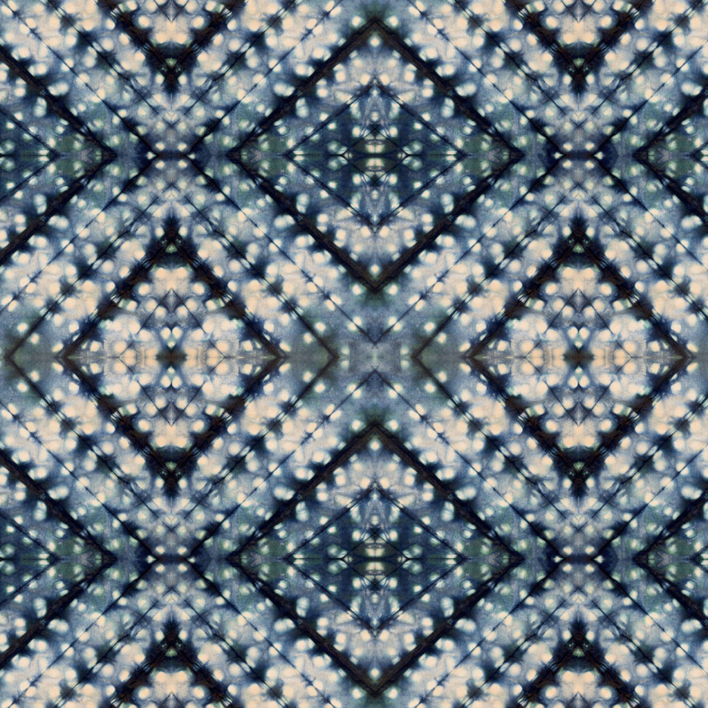 Indigo Itajime Cross Fabric