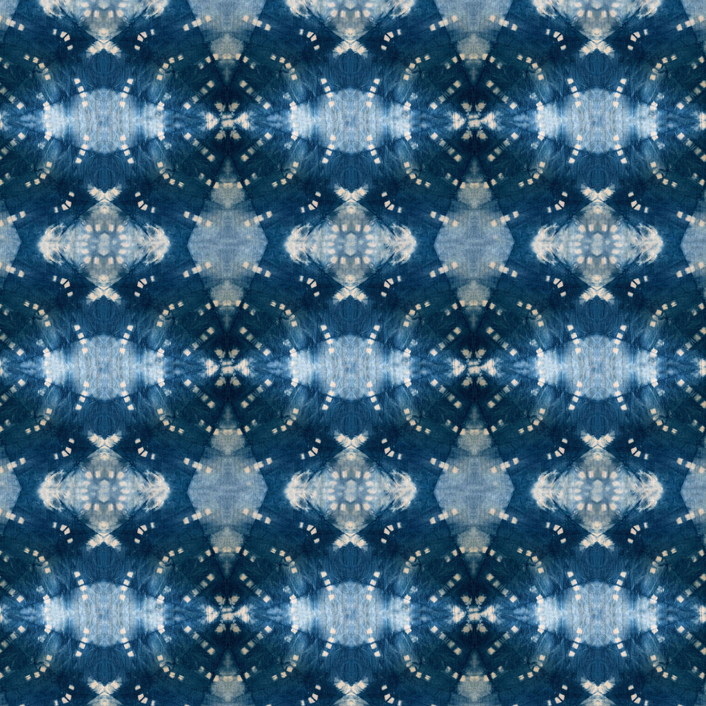Indigo Itajime Row Fabric
