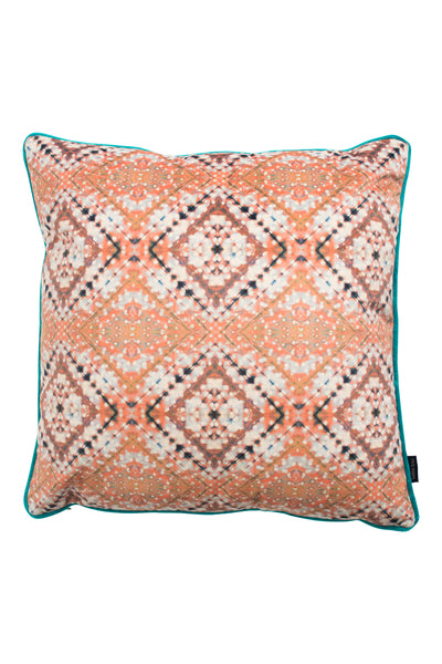 Coral Itajime Cross Cushion