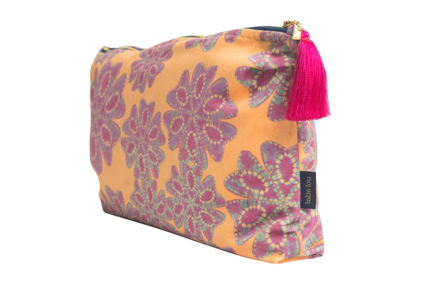Mellow Yellow and Lilac Nui Floral Wash Bag