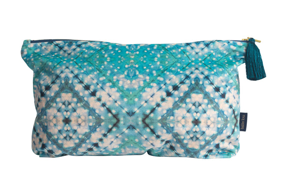 Sky Blue Itajime Cross Wash Bag