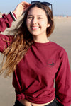 Maroon Lolita Shirt-Shirts-Beautiful Baleine