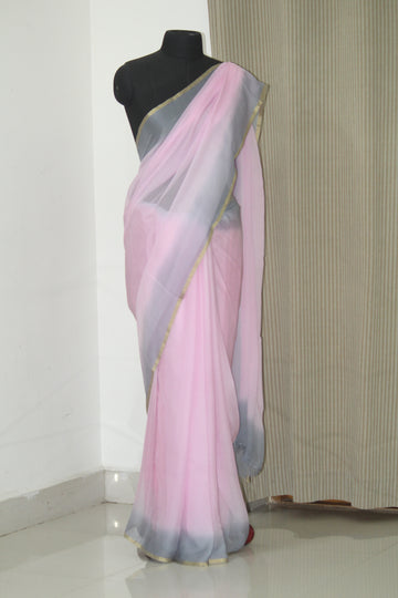 Pure silk chiffon saree