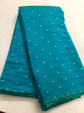 Self woven butti chiffon fabric 80 centimetres cut