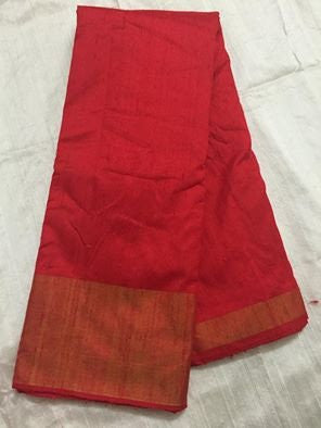 PURE RAW SILK WITH ZARI BORDER KURTA FABRIC