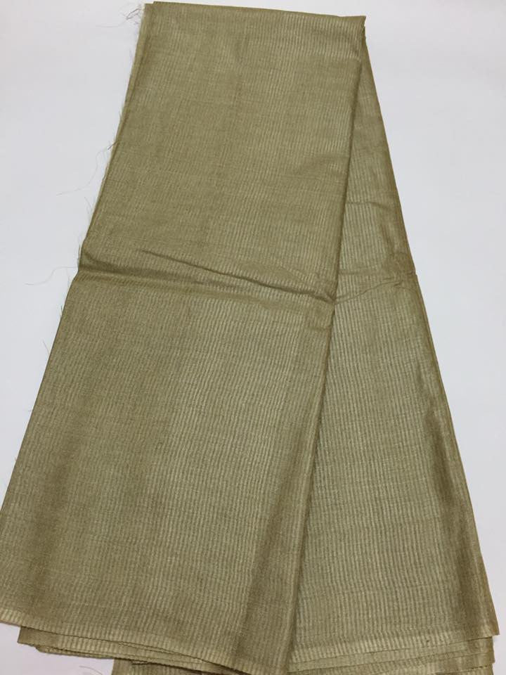 Pure tussar silk saree fabric