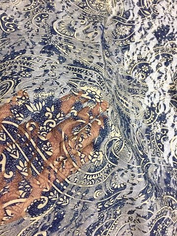 DIGITAL FLORAL  PRINTED  NET FABRIC 1.4 metres cut