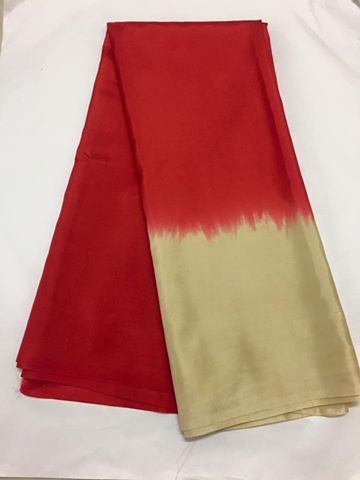 Pure silk saree in double shade