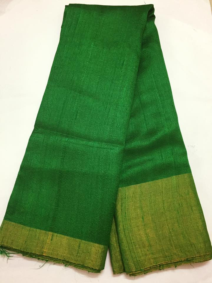 Pure raw silk saree
