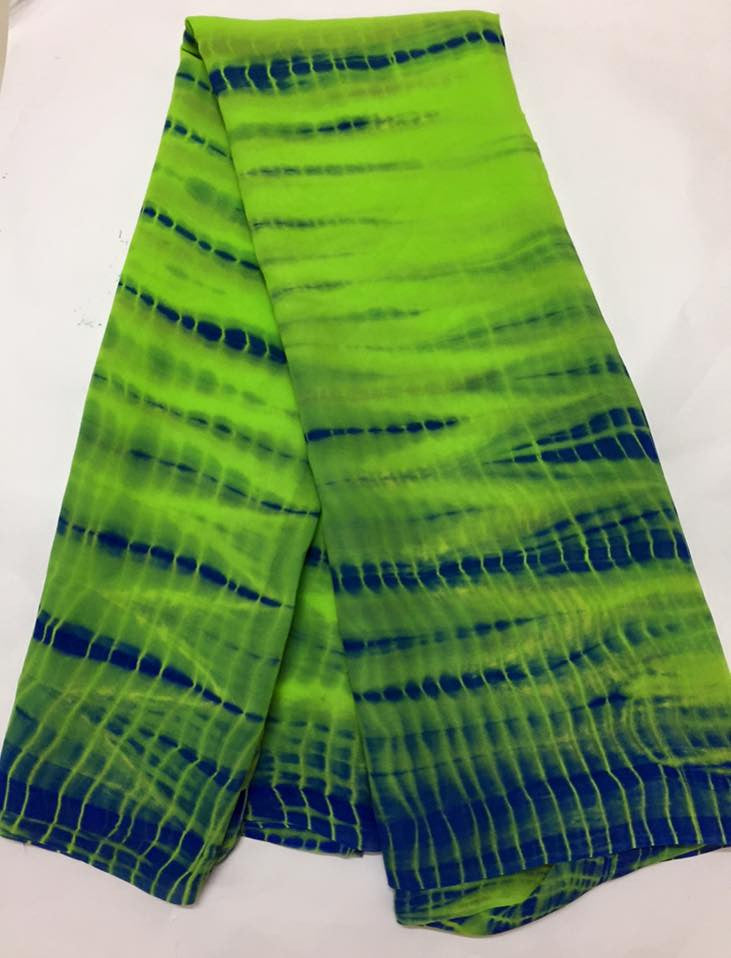 Shibori tie and dye pure georgette fabric