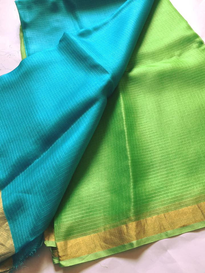 Pure kota silk double shade dupatta