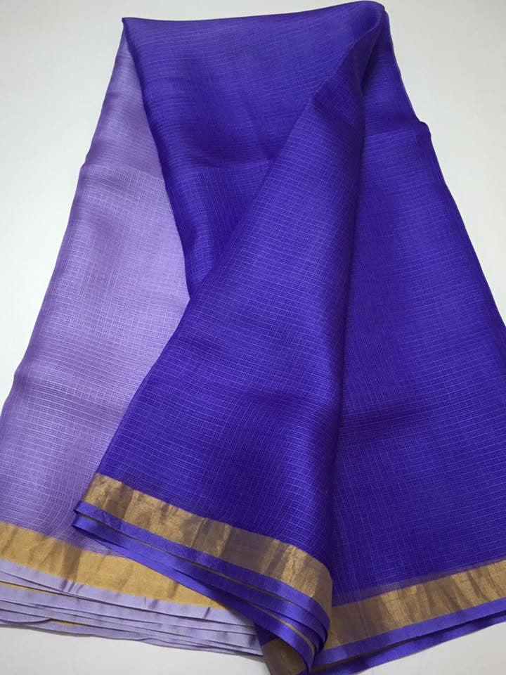 Pure kota silk double shaded saree