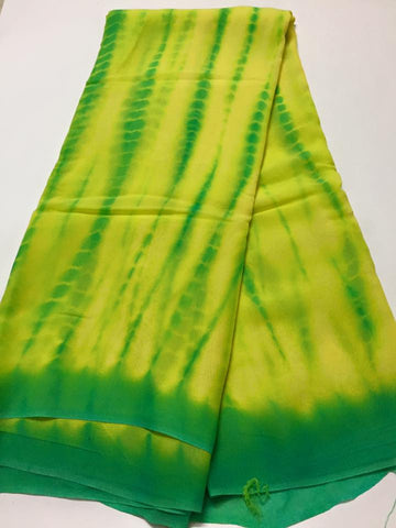 Shibori tie and dye georgette fabric