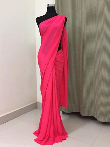 Pure crepe silk saree