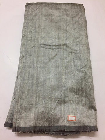 Pure raw silk silver grey kurta