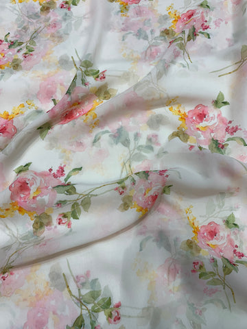 Digital floral Printed georgette fabric