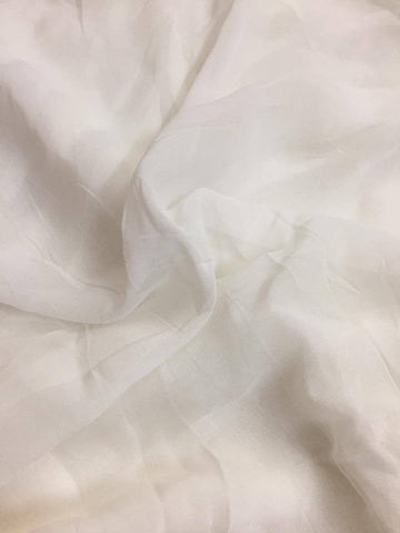 Dyeable Semi georgette white