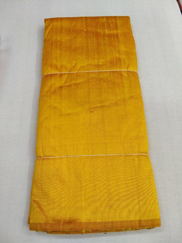 Dual tone dupion pure raw silk 100 grams - RED AND GOLD COLOUR