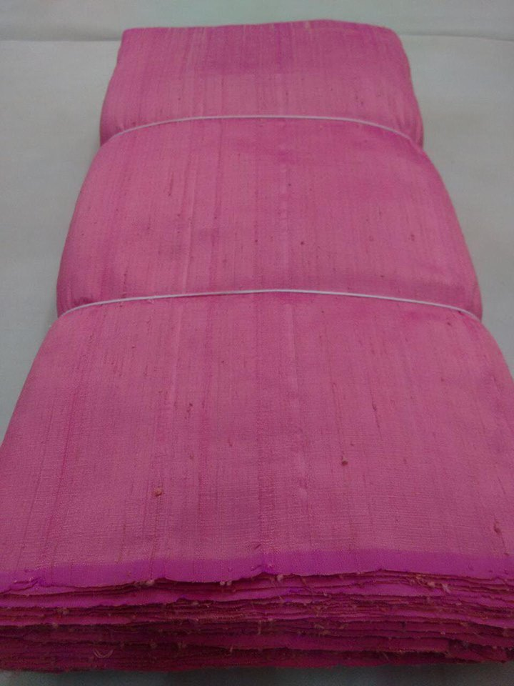 Dual tone dupion pure raw silk 100 grams - Rani and Gajri colours