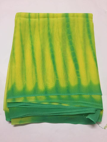 Georgette tie and dye fabric