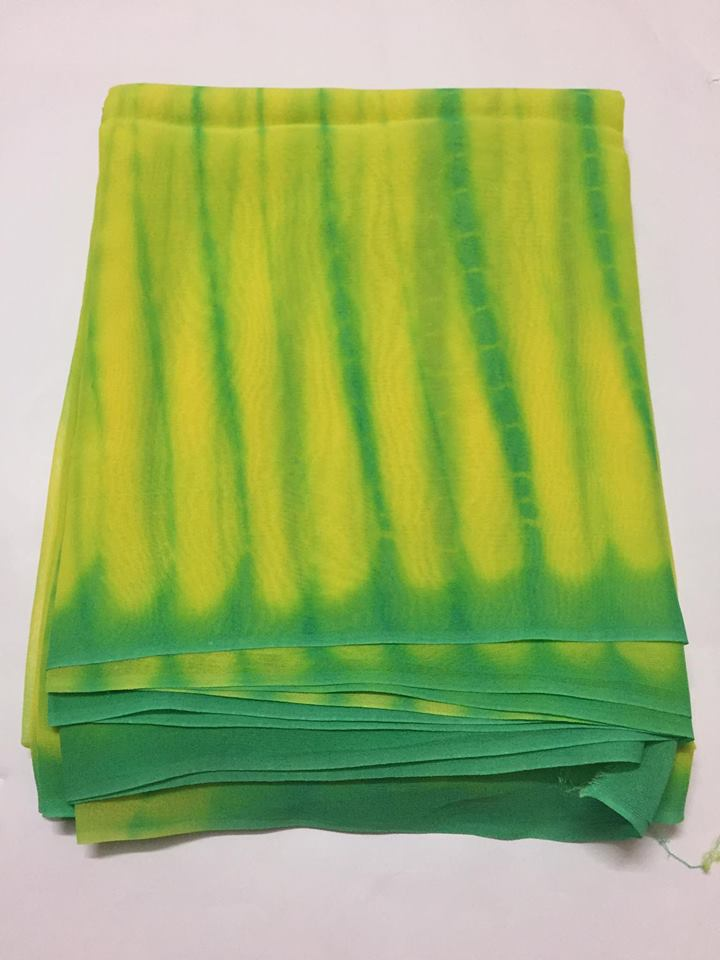 Georgette tie and dye kurta fabric