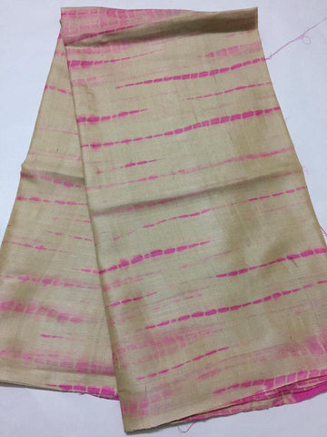 Tie and dye tussar silk kurta
