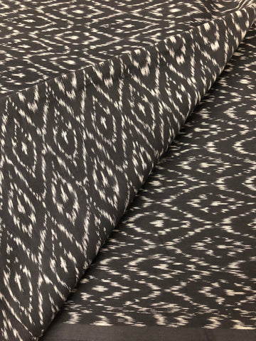 Ikat soft mercerised cotton fabric