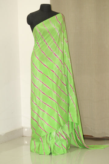 Leheriya pure silk crepe saree