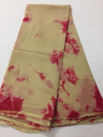PURE CHIFFON SHIBORI TIE AND DYE SAREE