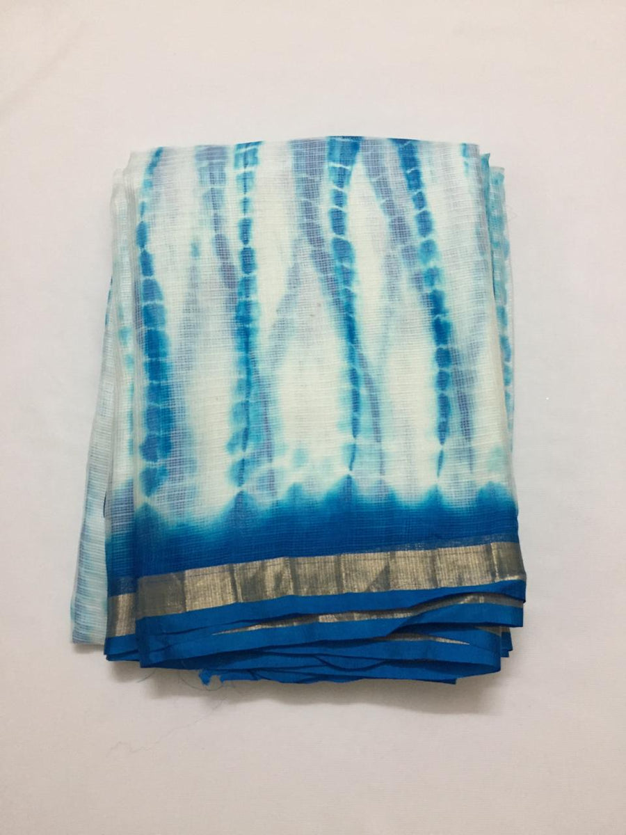 Pure silk Kota tie and dye kurta fabric