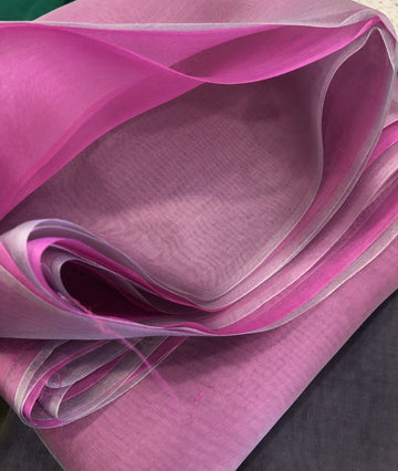 DOUBLE SHADED PURE SILK ORGANZA FABRIC