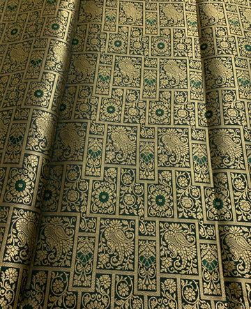 Banarasi brocade fabric 1.3 metres cut