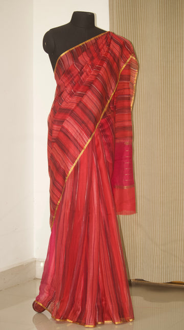 Pure kota silk hand brushed saree
