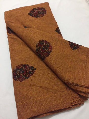 Block Printed Khadi fabric