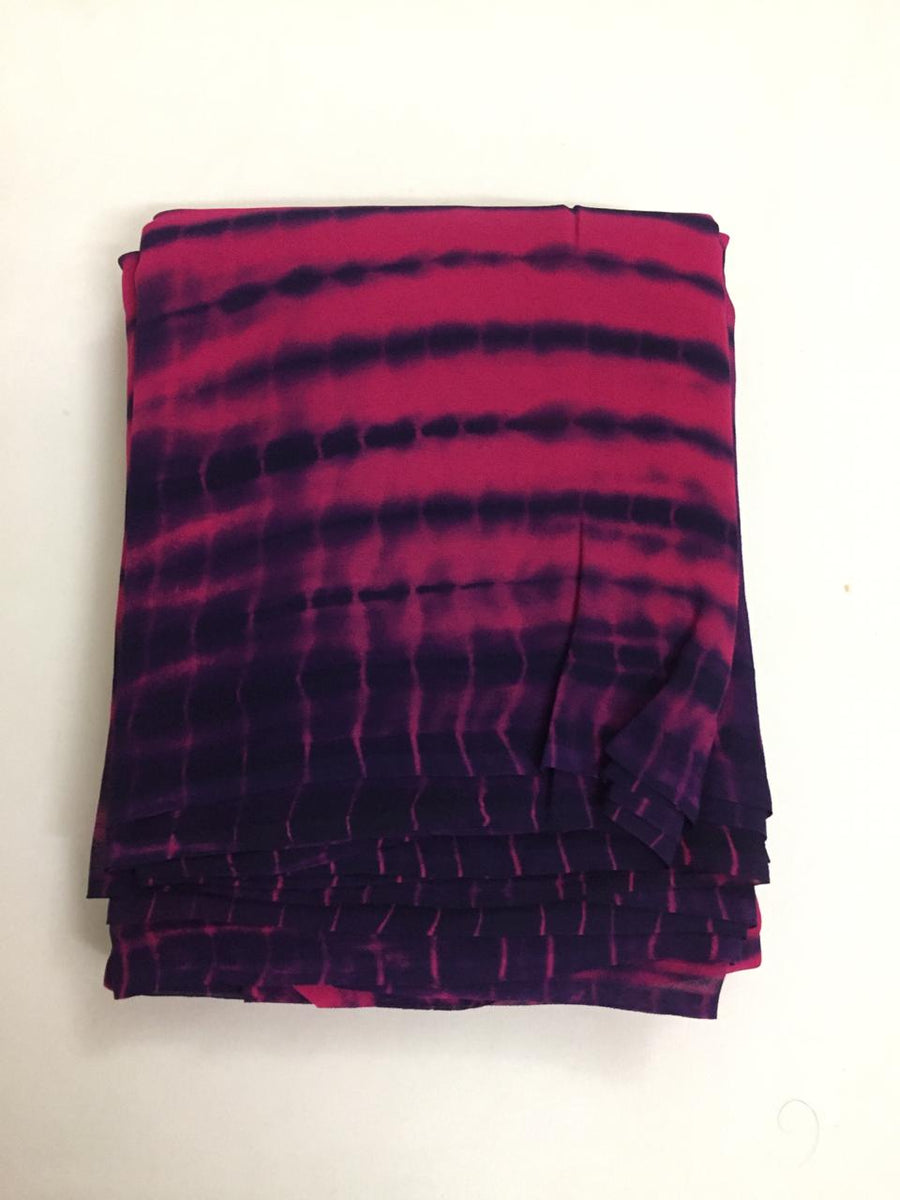 Shibori Georgette fabric