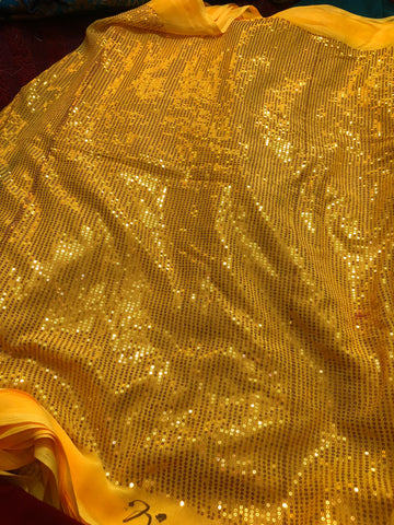 Sequins on georgette fabric