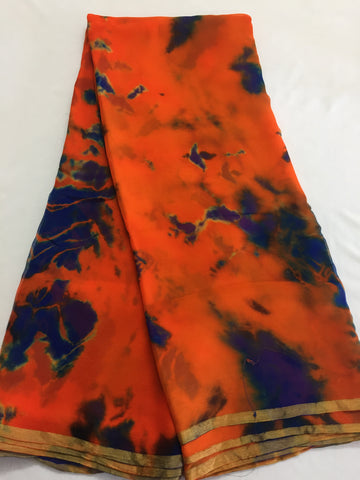 PURE CHIFFON SHIBORI TIE AND DYE FABRIC