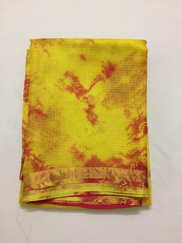 Pure silk Kota tie and dye fabric