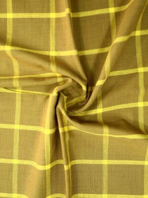 Checkered mercerised cotton fabric